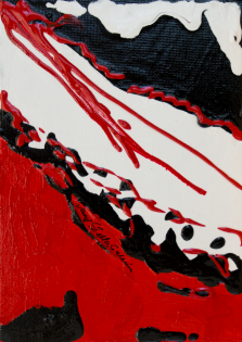 Rouge et Noir S17, Acrylic on canvas by Nancy Stella Galianos