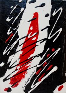 Rouge et Noir S12, Acrylic on canvas by Nancy Stella Galianos