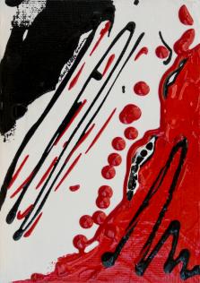 Rouge et Noir S16, Acrylic on canvas by Nancy Stella Galianos