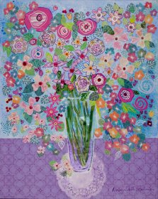 It's the Little Things, Mixed media on canvas by Nancy Stella Galianos