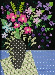 Garden Gleam, Mixed media on canvas by Nancy Stella Galianos