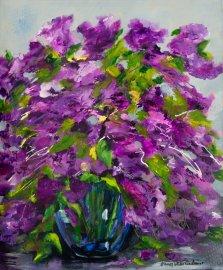 Purple Gathering, Acrylic on canvas by Nancy Stella Galianos