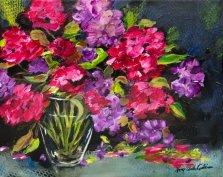 Garden Glory, Acrylic on canvas by Nancy Stella Galianos