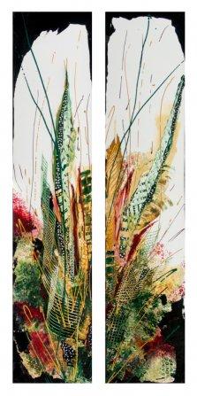 Fern Fantasy, Acrylic on canvas by Nancy Stella Galianos