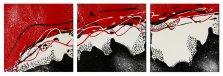 Rouge et Noir T3, Acrylic on canvas by Nancy Stella Galianos