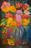 Colourful Sentiments, Pastel by Nancy Stella Galianos