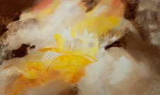 Papermill Art Gallery - Sunrise - Abstract Painting by Nancy Stella Galianos
