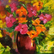 September Delight, acrylique sur toile par Nancy Stella Galianos